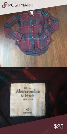 Abercrombie & Fitch flannel. Multi colored flannel purchased from A&F. Wonderful condition. Abercrombie & Fitch Tops Button Down Shirts