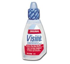 Use Visine to Tone Down Pimples