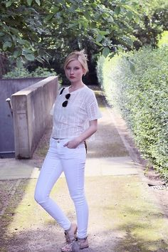 Get this look: http://lb.nu/look/6540806  More looks by Sarah F: http://lb.nu/mondodellamoda  Items in this look:  Primark White Trousers, Primark Lace Shirt, Ray Ban Sunnies, Buffalo Sandals   #just #white #fav #blogger