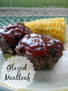Num's the Word:  If you think meatloaf is a hunk of bland meat slathered in ketchup, then you've been missing out.  This Glazed Meatloaf is packed with flavor and the glaze on top is to die for!