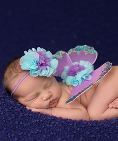 This Lavender & Aqua Sweet Mermaid Headband & Wings by The Tiny Blessings Boutique is perfect! #zulilyfinds
