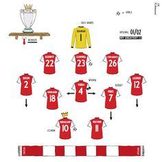 Best Football Players, Football Art, Arsenal Fc, Football Tactics, Dennis Bergkamp, Team Builders, Retro Football Shirts, Newcastle, Premier League