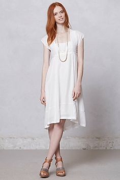Sattva Dress; I loooove this dress for the bridesmaids--just the right length, sleeves, cotton so it's not too hot. Too bad it's $298 #anthropologie