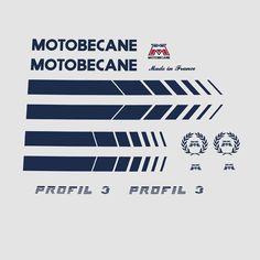 Motobecane Profil 3 Bicycle Stickers - Decals - Transfers n.600