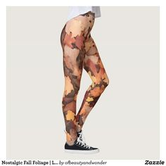 Nostalgic Fall Foliage   Leggings Fitness Gear, Best Leggings, Personalized Products, Top Ten, Look Cool, Workout Gear, Leg Warmers, Dressmaking, Things That Bounce