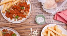 Tuck into this scrumptiously spiced Curry Wurst dish – you'll feel like you're in Germany...almost. Recipe courtesy of One Bite More.  #curry #german #recipe