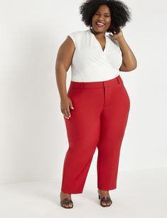 View our Viola Fit Kady Pant and shop our selection of designer women's plus size Pants, clothing and fashionable accessories. Red Pants Outfit, White Shirt Outfits, Blue Pants, Blazer Jackets For Women, Pants For Women, Clothes For Women, Plus Size Teacher, Down Parka Women, Plus Size Clothing Online