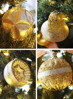 Gold glitter tree ba