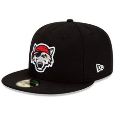 2b023ebdebb6d Erie SeaWolves Authentic Home Fitted Cap - Detroit MiLB Berry Berry