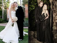 Avril Lavigne's Black Wedding Gown: See the Full-Length Photo Side-by-Side With Her First Dress | People.com