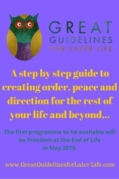 Great Guidelines for Later Life - a step-by-step guide to creating order, peace and direction for the rest of your life. Follow for a FREE downloadable life assessment to see how prepared you or your family are for getting older! #gettingolder #aging #senior #family
