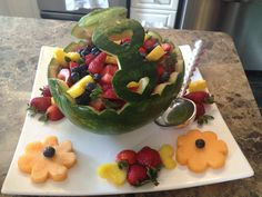 My Watermelon Fruit Bowl for a Wedding Shower