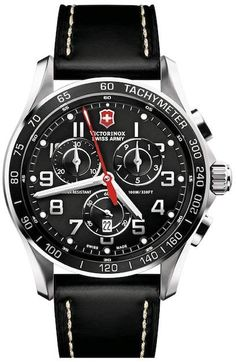 2e01e52ddae2 Victorinox Men s Chrono Classic XLS Leather Strap Watch