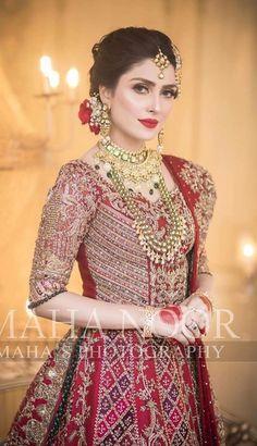 Pakistani Bridal Hairstyles, Pakistani Bridal Makeup, Pakistani Wedding Outfits, Asian Bridal Dresses, Wedding Dresses For Girls, Bridal Outfits, Beautiful Pakistani Dresses, Pakistani Dress Design, Beautiful Dresses