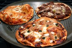tortilla pizzas-these are great for a fast meal.   For low-cal use whole wheat or other low-cal tortilla.