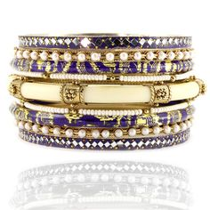 Paash Purple & Pearl Bangle Set, Paash, Shop By Designer,