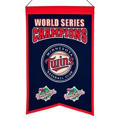 MLB Baseball Minnesota Twins 14x22 Heavy Wool with Embroidery Sport Team Logo World Series Champions Banner #2017 -- Awesome products selected by Anna Churchill