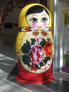 """How cool is this Lego matryoshka doll?  Don't know if it belongs on my """"Lego--That's all!"""" board or here on the """"Russian at heart"""" board."""
