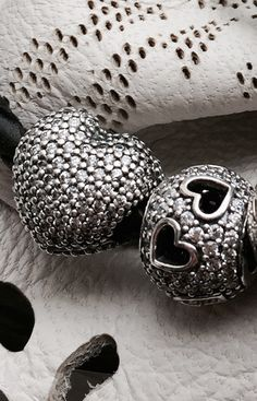 Openwork details #cutout heart heart and #pave heart charm #PANDORAcharm
