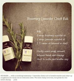 An easy-to-make, natural chest rub.  http://www.pinterest.com/pin/260505159669813669/ Take action tips for COPD: http://www.nhlbi.nih.gov/health/public/lung/copd/what-is-copd/taking-action.htm