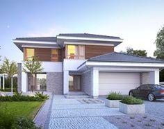 Aranżacje wnętrz - Domy: WYJĄTKOWY 3 - nowoczesny dom z pełnym piętrem - Średnie jednopiętrowe domy jednorodzinne murowane, styl nowoczesny - DOMY Z WIZJĄ - nowoczesne projekty domów. Przeglądaj, dodawaj i zapisuj najlepsze zdjęcia, pomysły i inspiracje designerskie. W bazie mamy już prawie milion fotografii!