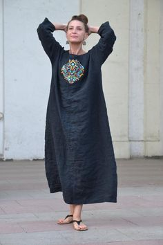 Boho Fashion, Fashion Outfits, Womens Fashion, Muslim Fashion, Fashion Details, Linen Dresses, Casual Dresses, New Dress, Dress Up
