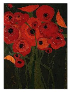 Wild Poppies Art Print by Karen Tusinski