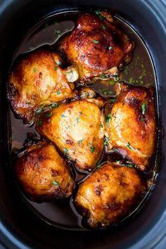 Slow cooker honey garlic chicken – Easy Recipes