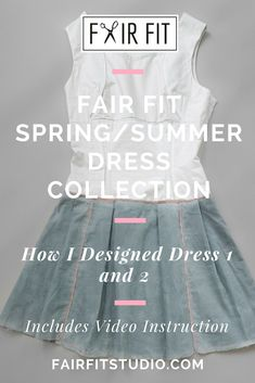Fair Fit Spring/Summer Dress Collection - How I Designed Dress 1 and 2 — Fair Fit Studio Spring Fashion Outfits, Casual Winter Outfits, Dressmaking Course, Fashion Design Classes, Simple Dresses, Summer Dresses, Become A Fashion Designer, Make Your Own Dress, Dress Tutorials
