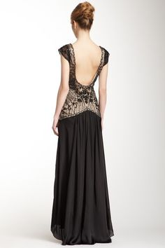 Sue Wong Embellished Gown  Love the back!