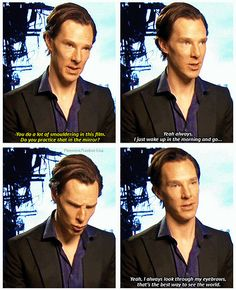 Oh, Benedict, tell me more about your eyebrows