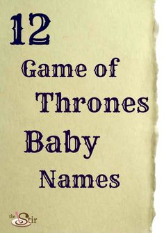 Coolest baby names ever?
