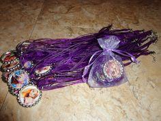 Tangle Party Favor Rapunzel Bottle Cap Necklaces craft for party.