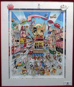 """Charles Fazzino """"Broadway Toons"""" - Signed By Hanna Barbera - 3D Mixed Media - Retail 8,500 - COA on Etsy, £2,651.68"""