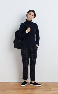 MUJI | LESS ITCHINESS WIDE RIBBED TURTLE NECK SWEATER | OGC STRETCH CREW NECK L/S T SHIRT (PLAIN) | BRUSHED SLIP-ON SNEAKERS