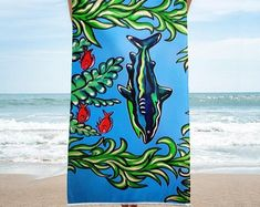 She saw a shark when snorkeling in Hawaii. She swam fast back to shore. Right at the drop off, was the shark moving swiftly through the ocean. This shark towel is her reminder that we share the ocean with nature. California Surf, Skate Surf, Surf Style, Snorkeling, Beach Towel, Shark, Hawaii, Surfing, Ocean
