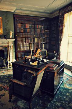 "wanderthewood: ""Library at Hughenden Manor, Buckinghamshire, England by - J.S.K photo impressions - """