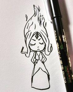 New brush pen so here's a tiny #flameprincess  (( #ztdraws #fanart #adventuretime #cartoonnetwork  #traditionalart #sketch #art #cute #instadraw #instaart #instaink #flame #instadrawing #instaartist #chibi #princess #doodle #artstagram ))