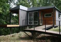 elevated container home in missouri