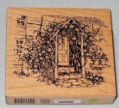 PSX Mounted Rubber Stamp K-2886 Rose Arbor Entrance Scene 1999 #PersonalStampExchangePSX