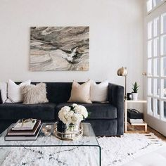 Glam Living Room, Cozy Living Rooms, Living Room Modern, Apartment Living, Home And Living, Living Room Designs, Small Living, Apartment Couch, Small Couches Living Room