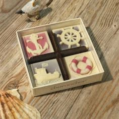 Ship Ahoy!  Love all things nautical? Then these delicious maritime chocolate are for you!