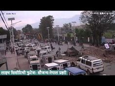 LIVE footage of earthquake in Kathmandu - Vídeo mostra o que seria rua de Katmandu no momento do terremoto Imagens parecem de câmeras de segurança de shopping do Nepal. Mais de 5 mil pessoas morreram no terremoto do último sábado (25).