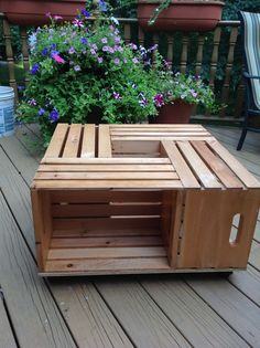 Great for college apartment!  4 wooden crates.