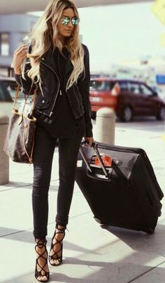 #winter #fashion / all black everything