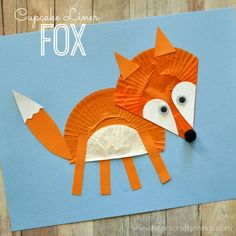 Cute Fox Crafts for Kids Cupcake liner crafts are one of my favorites! Fox Crafts, Animal Crafts For Kids, Art For Kids, Arts And Crafts, Cupcake Liner Crafts, Cupcake Liners, Diy Cupcake, Paper Cupcake, Cupcake Wrappers