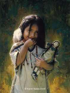 """The Shy One"" -Native American Paintings by Karen Noles"