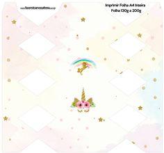 Girl Birthday Themes, Kids Party Themes, Unicorn Birthday Parties, Unicorn Party, Birthday Party Decorations, Unicorn Printables, Party Printables, Box Invitations, Oh My Fiesta