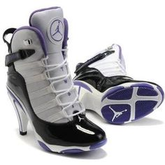 size 40 ad965 10e41 www.asneakers4u.com  Nike Air Jordan 6 Retro High Heels Black White Purple