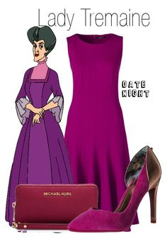 """""""Lady Tremaine~ DisneyBound"""" by basic-disney ❤ liked on Polyvore featuring Lands' End, MICHAEL Michael Kors and Ted Baker"""